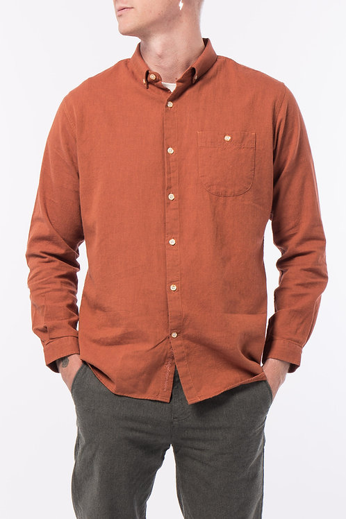 Chemise Flannel Fig KNOWLEDGE COTTON