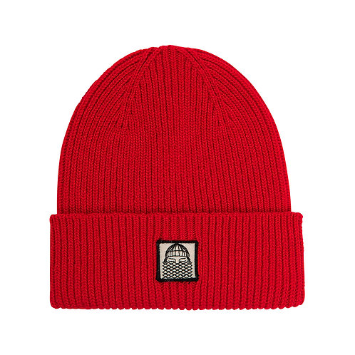 Beanie Red patch BASK IN THE SUN