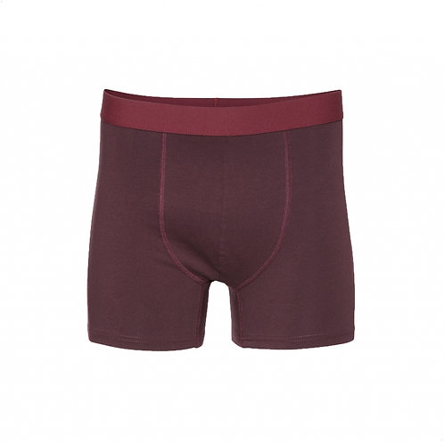 Classic organic Boxer brief Oxblood red COLORFUL STANDARD