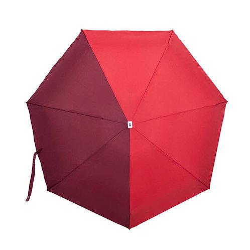 Parapluie micro et solide - Multicolore Rouge et Bordeaux ANATOLE