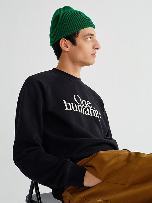 Sweatshirt One Humanity Black THINKING MU