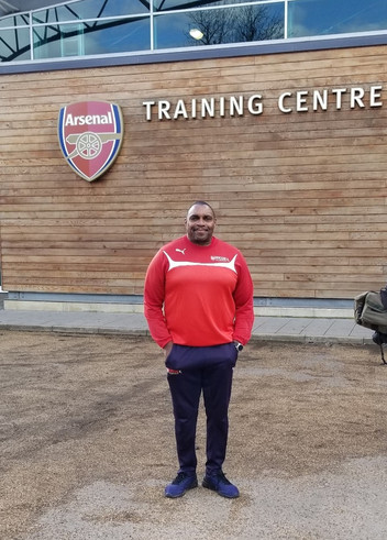 Everton at the Arsenal Training Centre