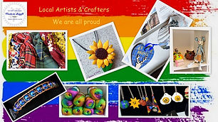 A collage of handmade colour crafts in rainbow colours.jpg