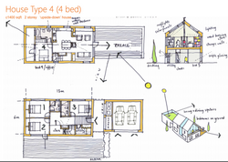 Floorplan for eco-village home