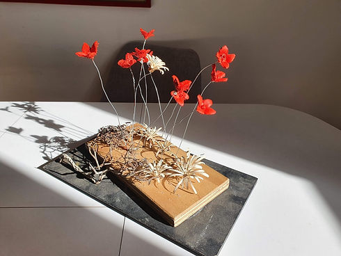 Poppies on a wooden base.jpg