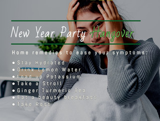 HOME REMEDIES TO EASE YOUR NEW YEAR PARTY HANGOVER SYMPTOMS