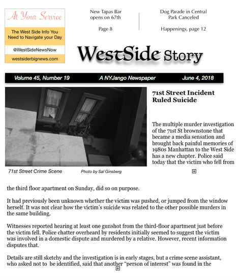 A local paper covers the initial incident