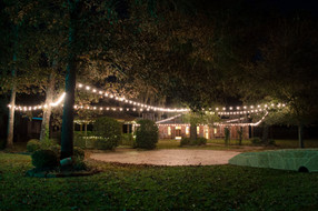 Gazebo and Old Western Town with Lights