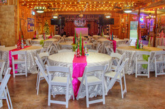 Pink and Lime Christmas Party Decor