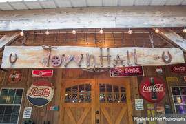 Antique Signs on Rustic Barn