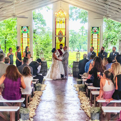 White Open Air Chapel Ceremony