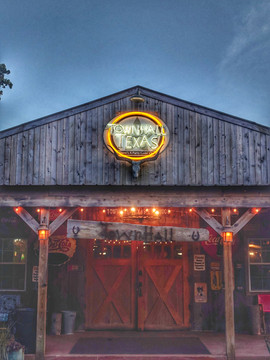 TownHall Texas Neon- Rustic Barn