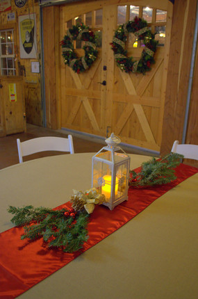 Christmas Decorations in the Rustic Barn