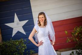 Texas Flag on White Barn