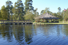Pond, Bridge, and Palapa