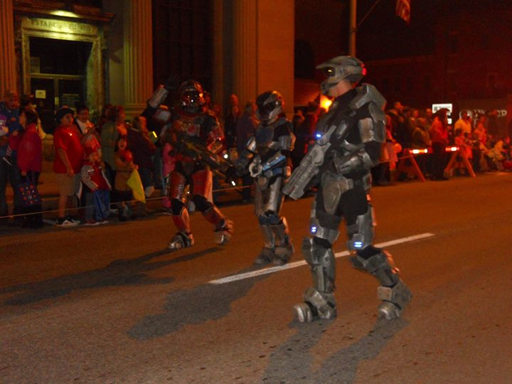 Halo-ween parade.
