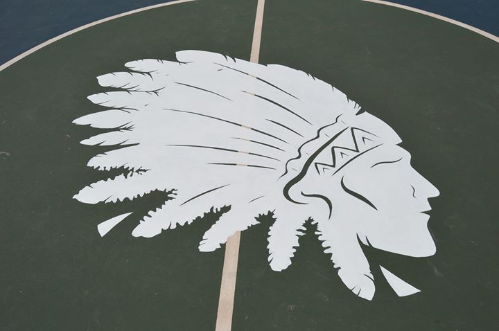 Doing a bunch for Indian Head Camp this year, including several basketball courts with this logo