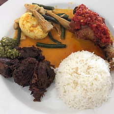 D1A - Nasi Padang with Fried Chicken