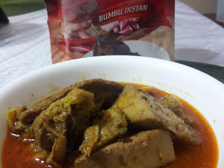 Gulai Cancang ala Minang using Bumbu Rendang