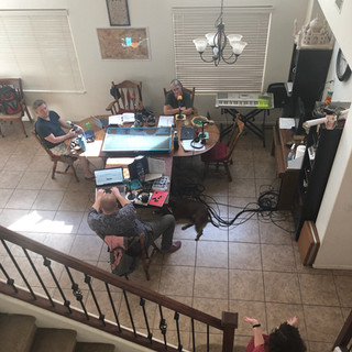 Overhead view of our Recording Space