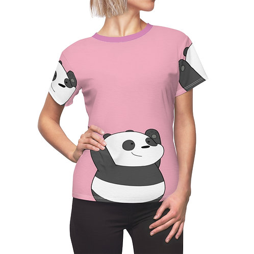Panda Cartoon Women's AOP Cut & Sew Tee