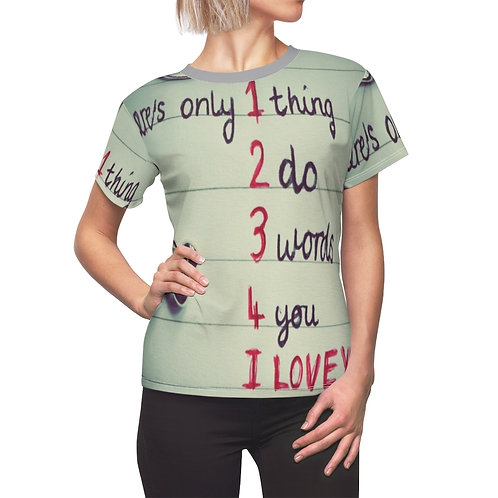 There's Only thing do words you I Love You Women's AOP Cut & Sew Tee