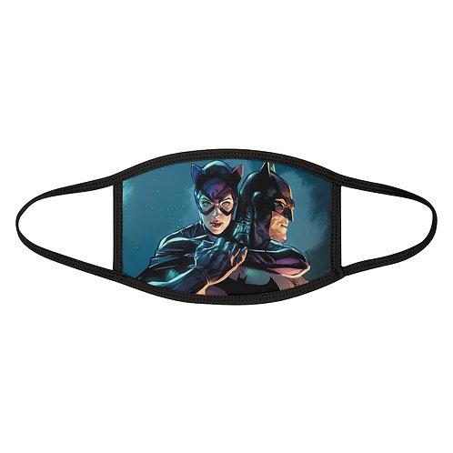 Batman And Cat woman Mixed-Fabric Face Mask