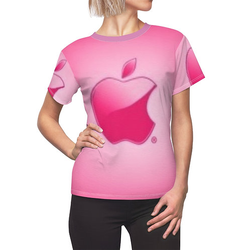 Apple Pink Women's AOP Cut & Sew Tee
