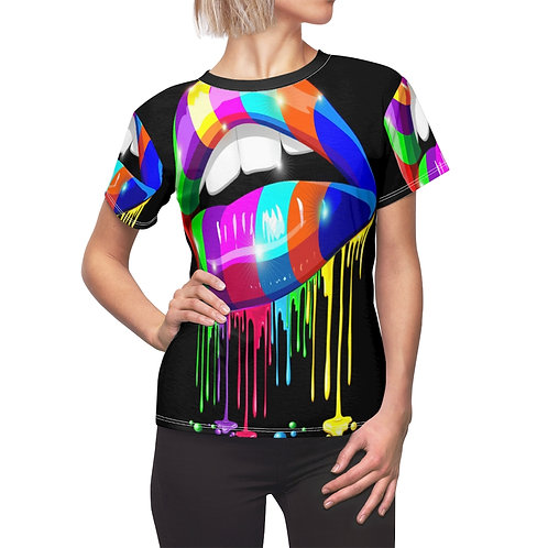 Rainbow Lips  Women's AOP Cut & Sew Tee