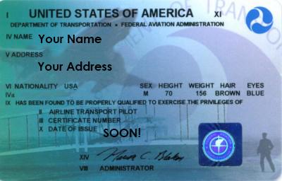 Your pilot's license!