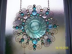 Tourquiose Blue Spiral Plate