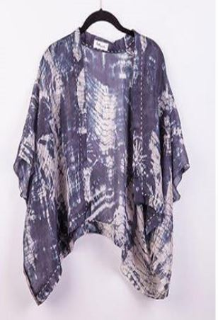 Blue & White silk wrap