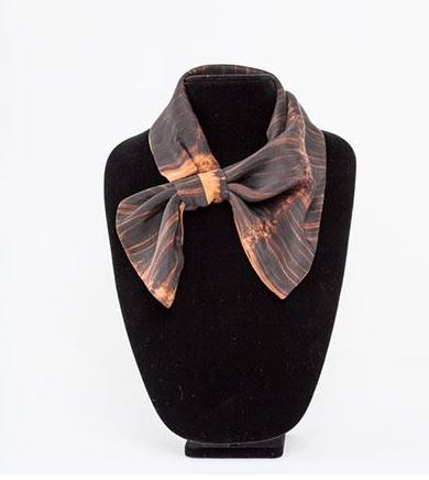 Reversible silk scarf