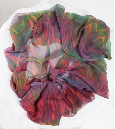 Infinity scarf, Silk chiffon