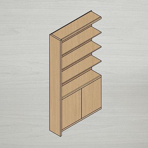 Add-on Bold Bookshelf w/ Doors - Left