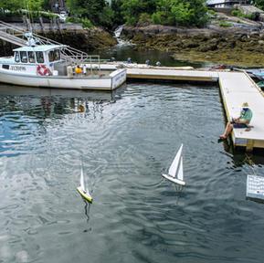Harbor Falls & Model Yachts