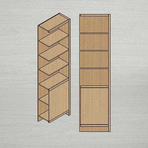 Add-on Italic Bookshelf w/ Doors - Right