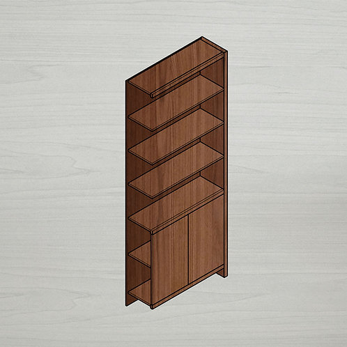 Add-on Medium Bookshelf w/ Doors - Right