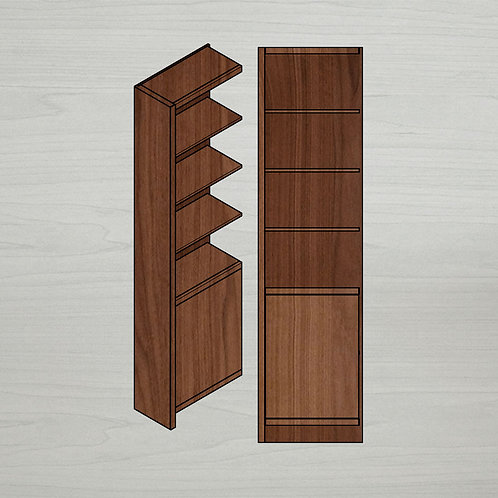 Add-on Italic Bookshelf w/ Doors - Left