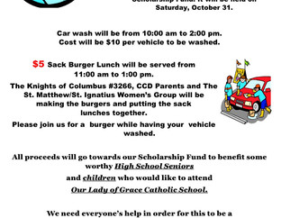 Car wash and Burger Sale!