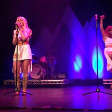 ELAINE GRAY WITH ABBA REUNION