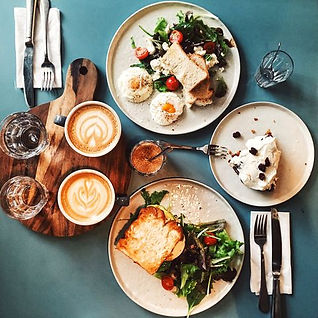 brunch-for-two-people-with-avocado-toast