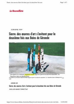 Article Le Nouvelliste