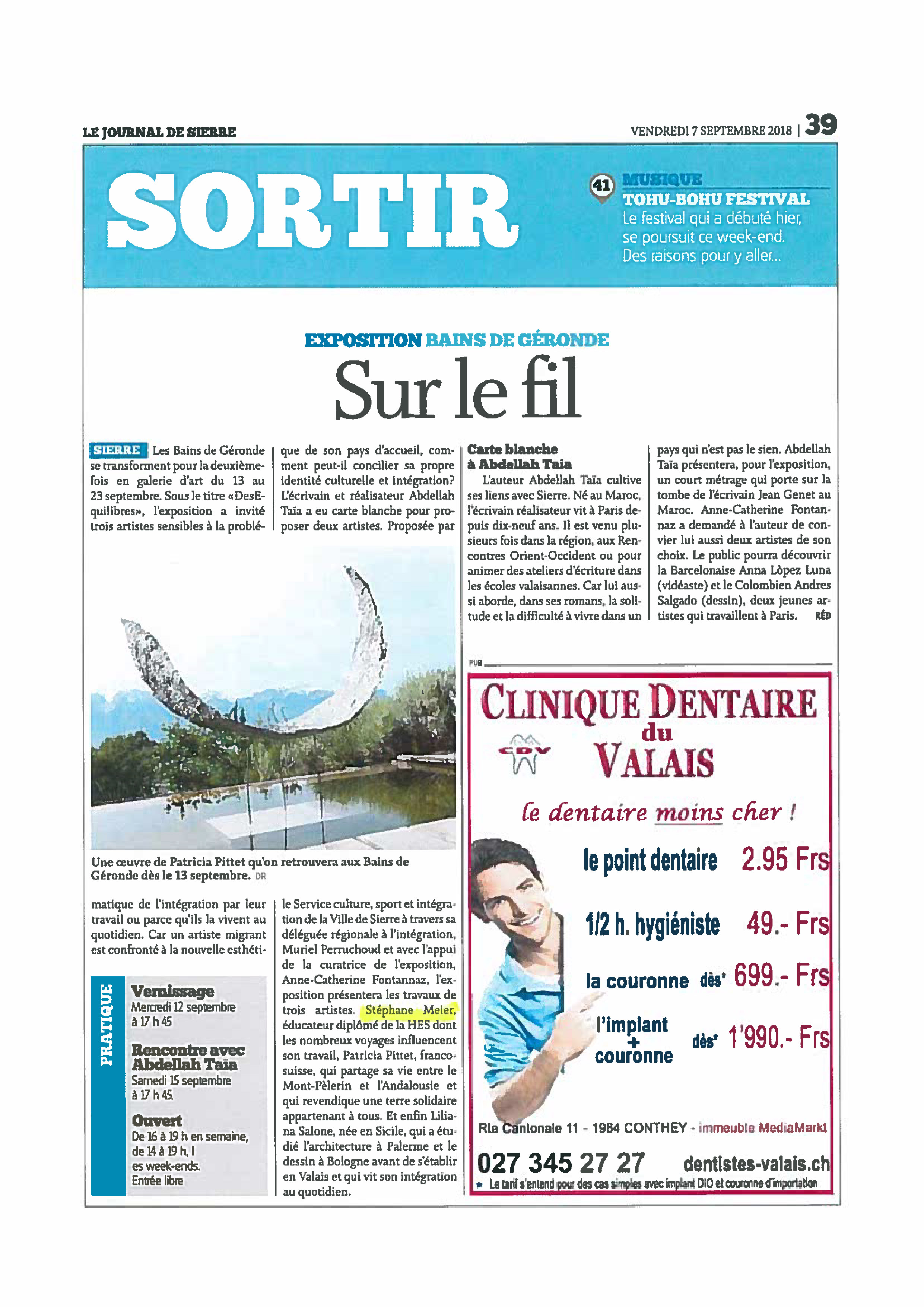 Article Journal de Sierre
