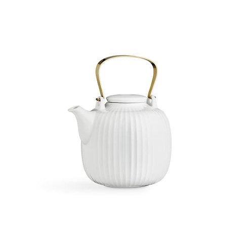 Teekanne aus Porzellan - weiß