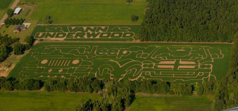 2012 Aerial Shot of Maze