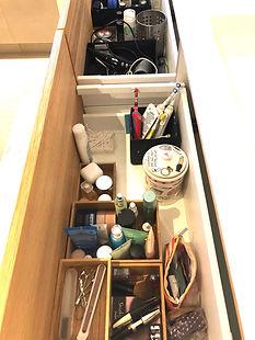badkamer herinrichten, rommel weggooien, ontrommelen