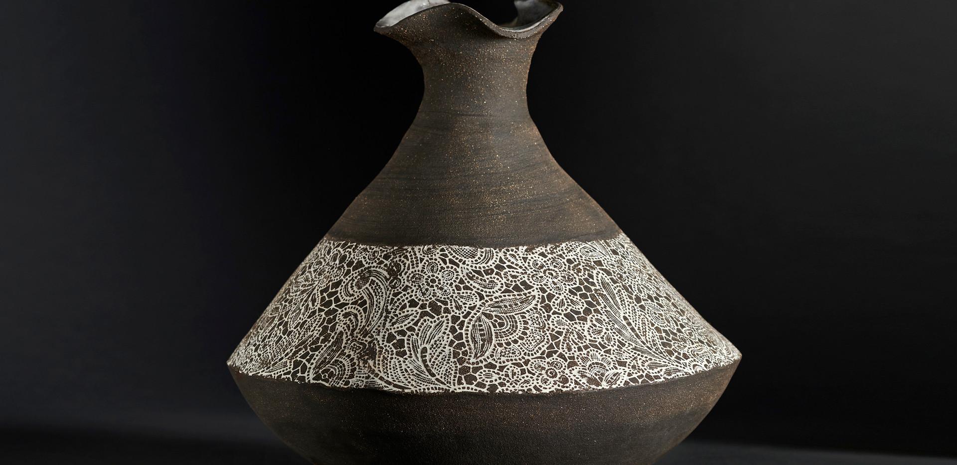 Vase bandeau  diam 24 / haut 23 cm