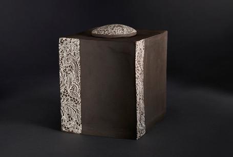Boîte orient rectangle  haut 18 cm larg 15 cm / 15 cm