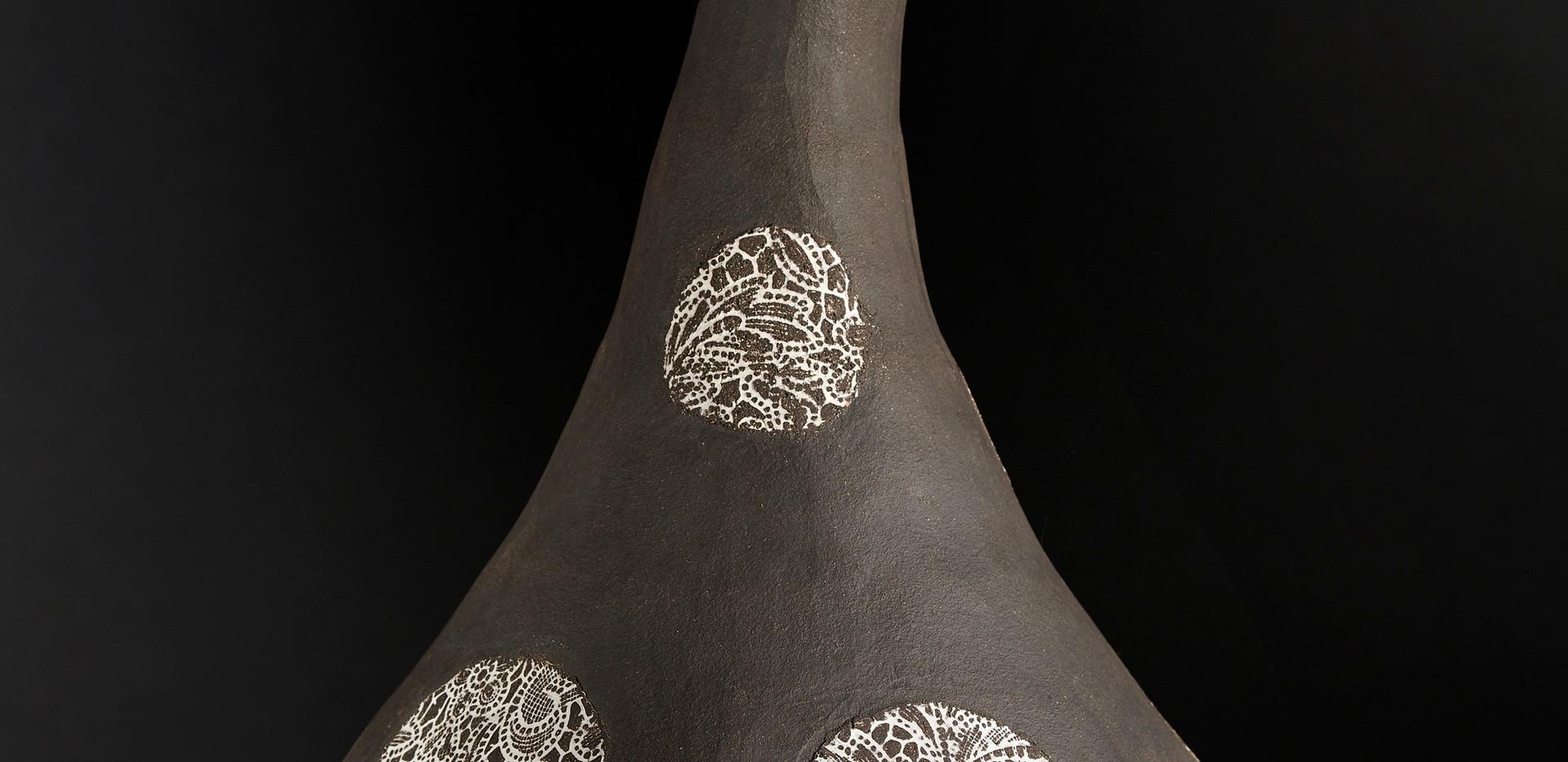Vase à pois  diam 24 cm / haut 40 cm
